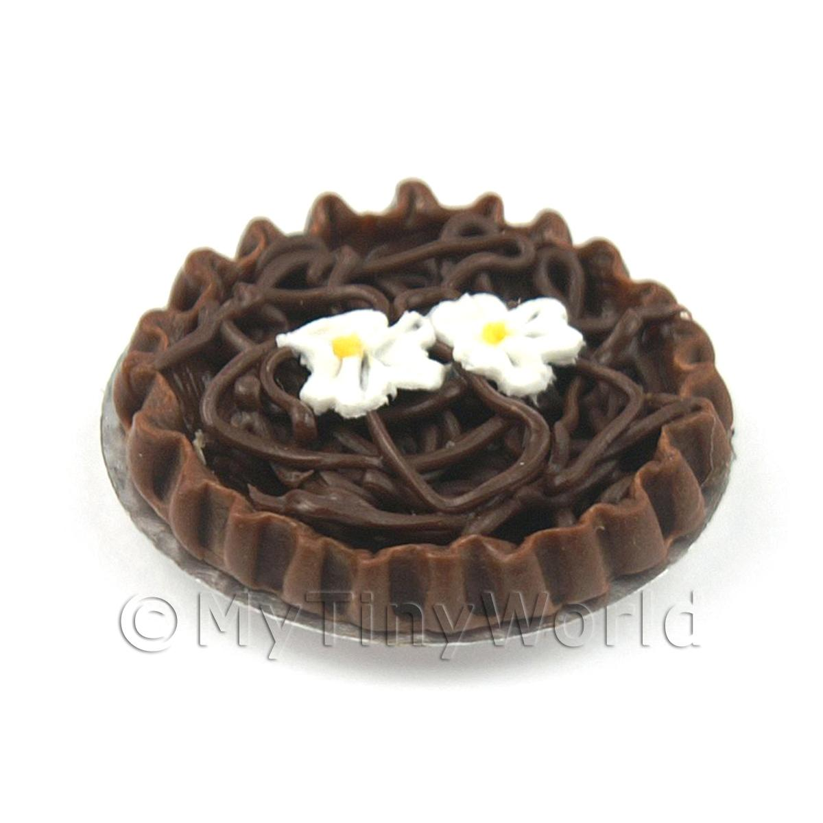 Dolls House Miniature Belgian Chocolate Tart