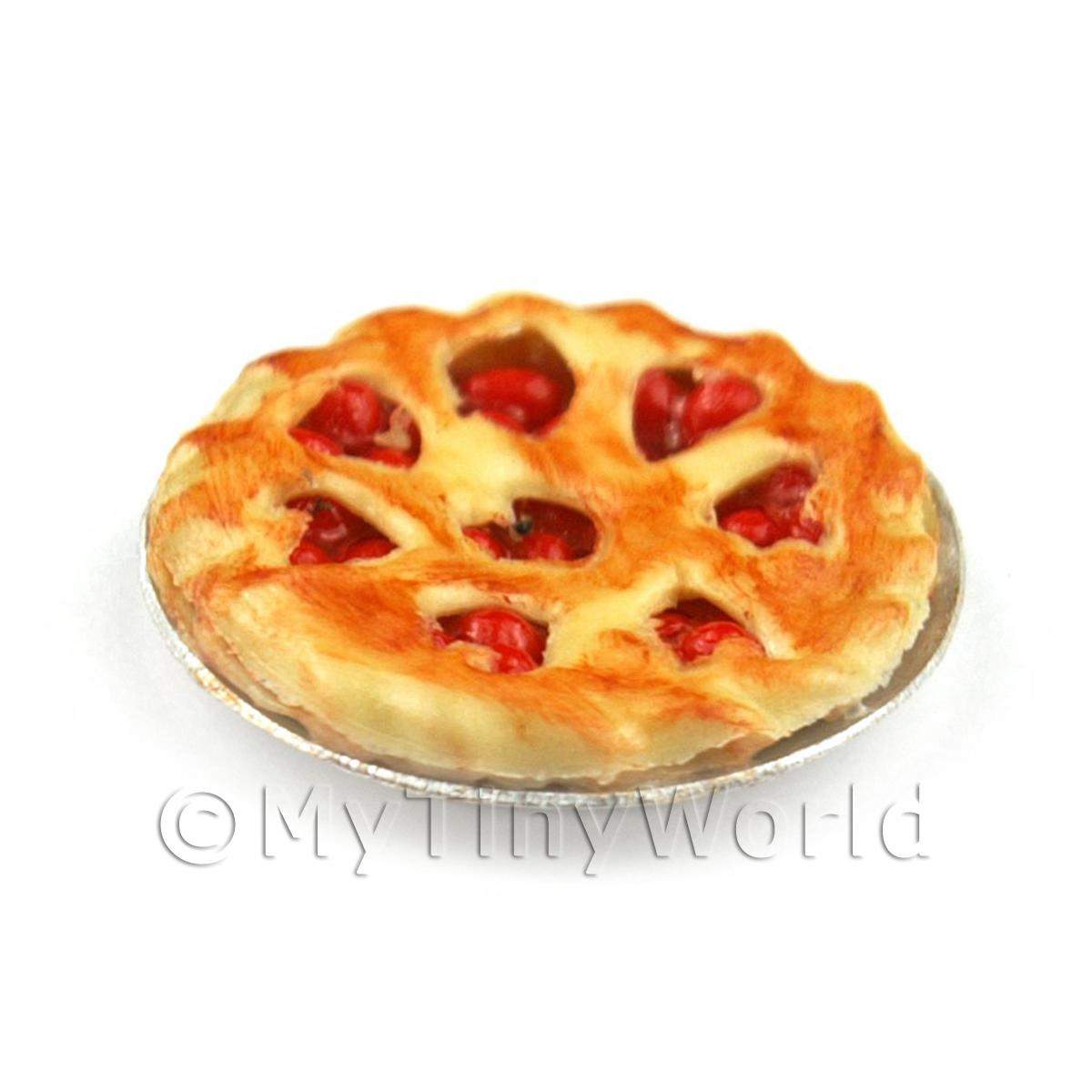 Dolls House Miniature Deep Filled Cherry Pie