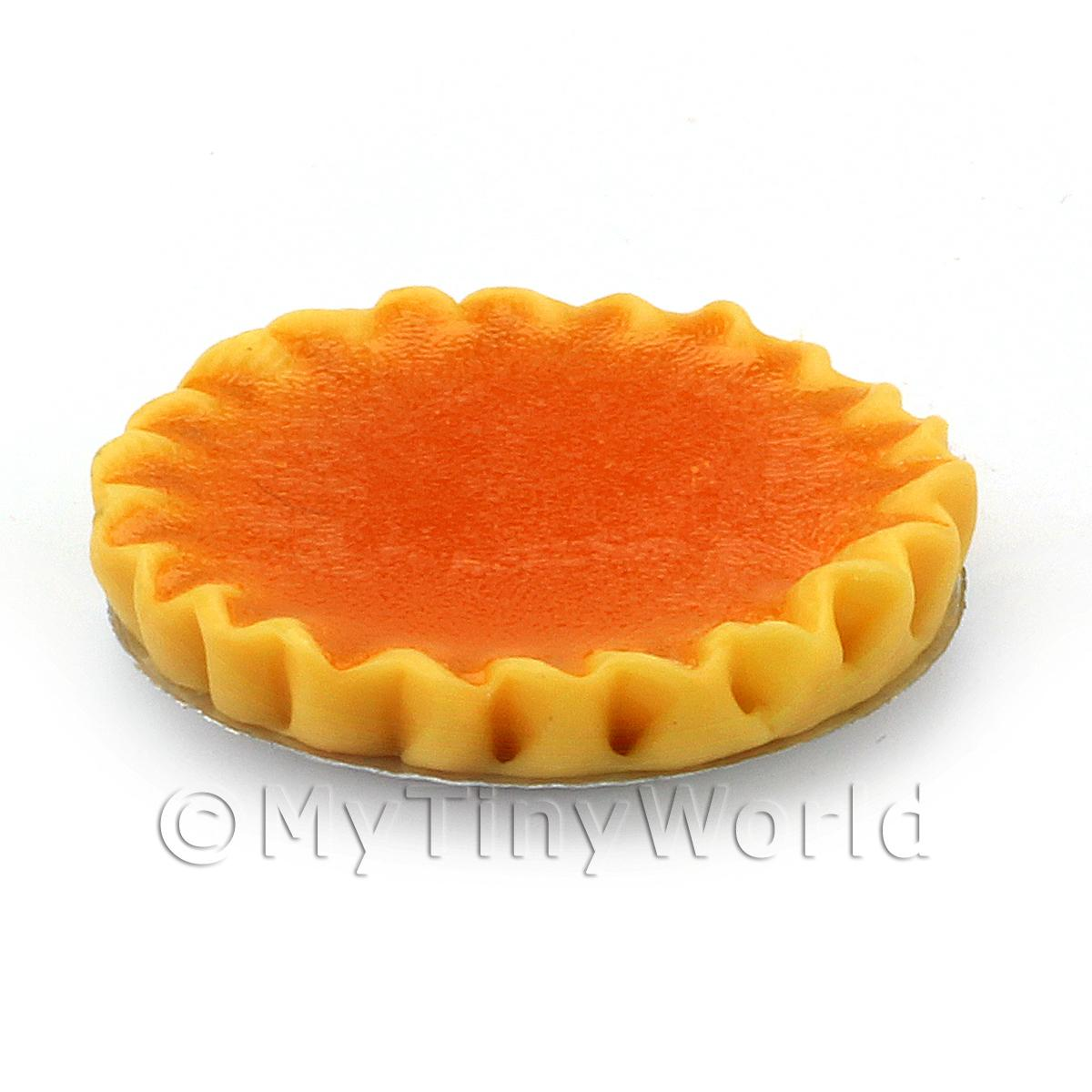 Dolls House Miniature Deep Filled Apricot Tart