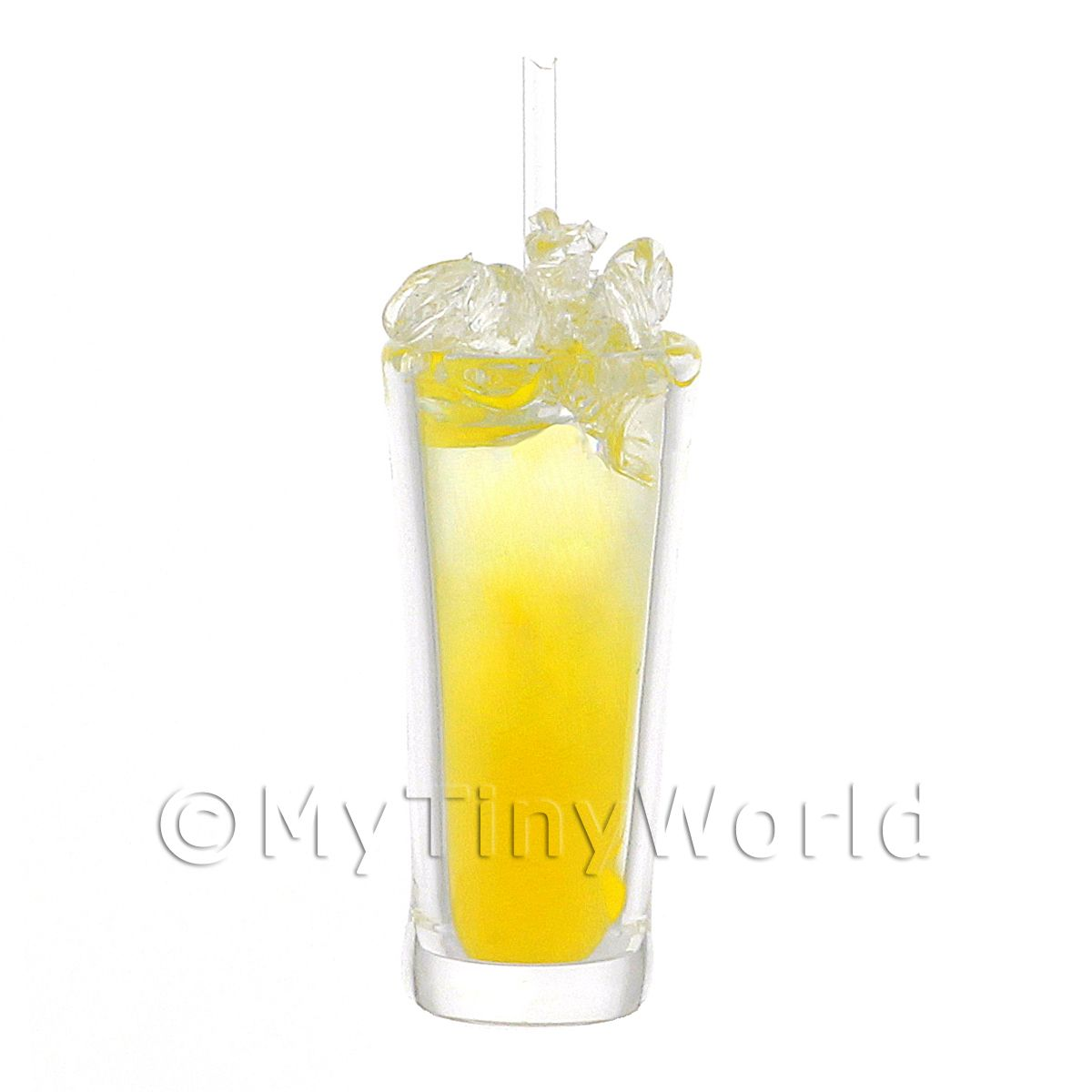 Miniature Yellow Bird Cocktail In Long Glass