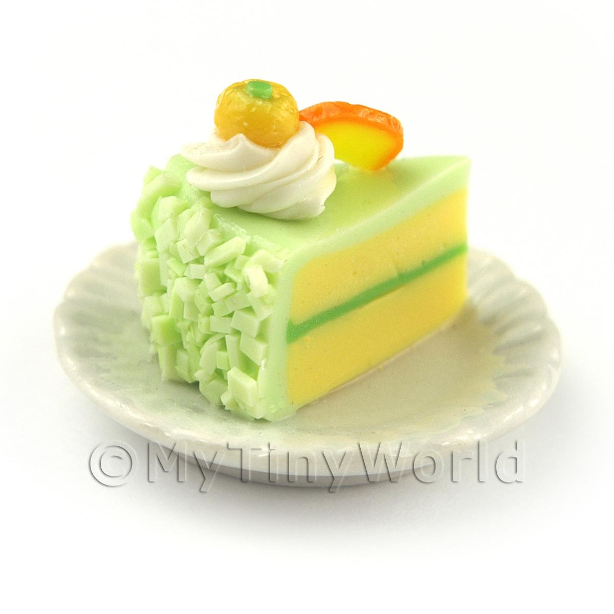 Dolls House Miniature Individual Orange and Kumquat Cake Slice