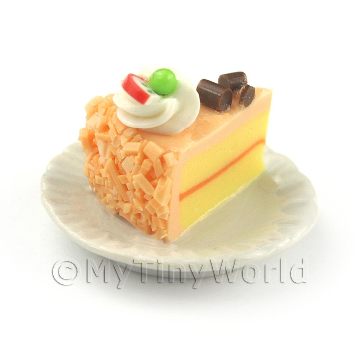 Miniature Orange Iced  Individual Dragon Fruit and Chocolate Cake