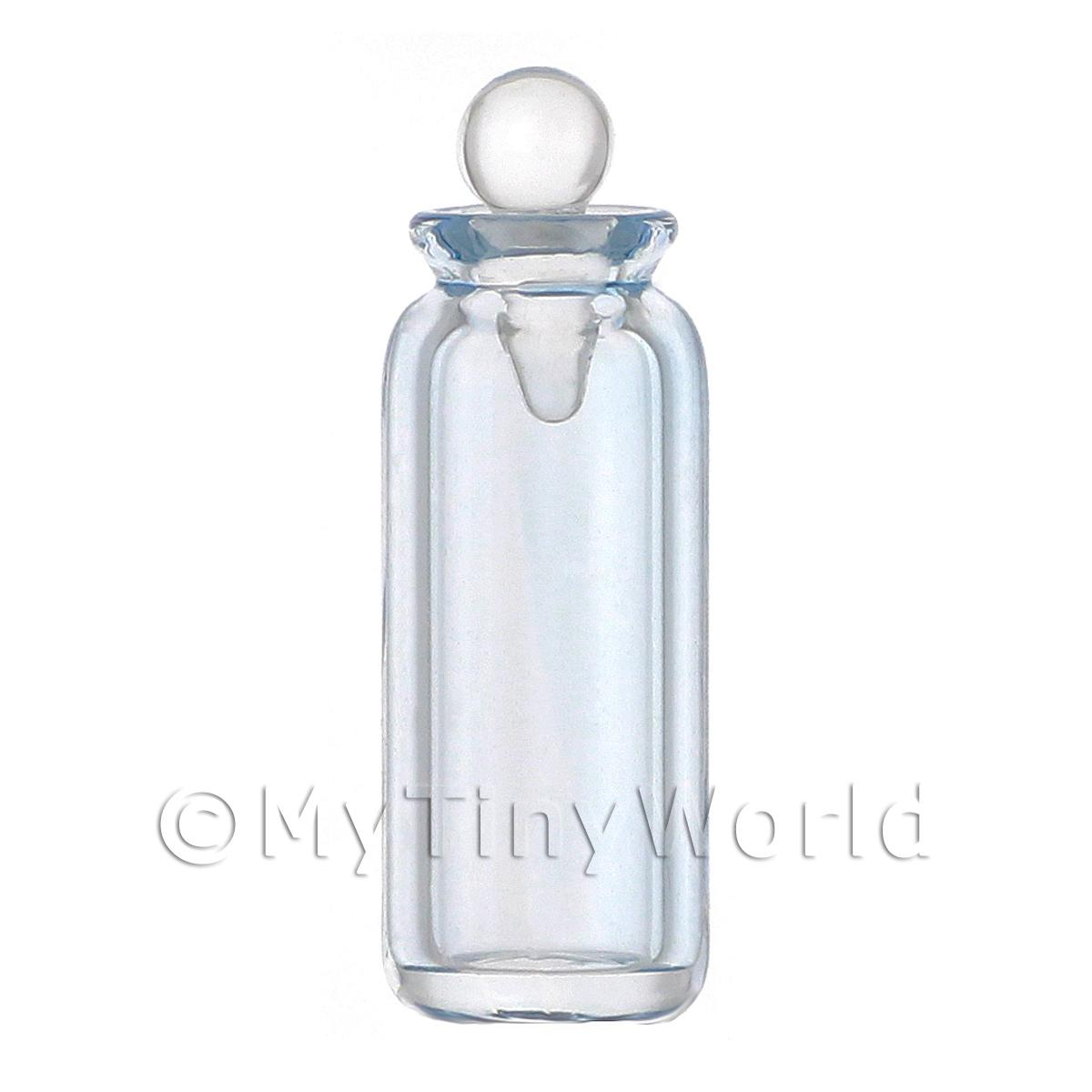Dolls House Miniature Small Blue Glass Apothecary Bottle