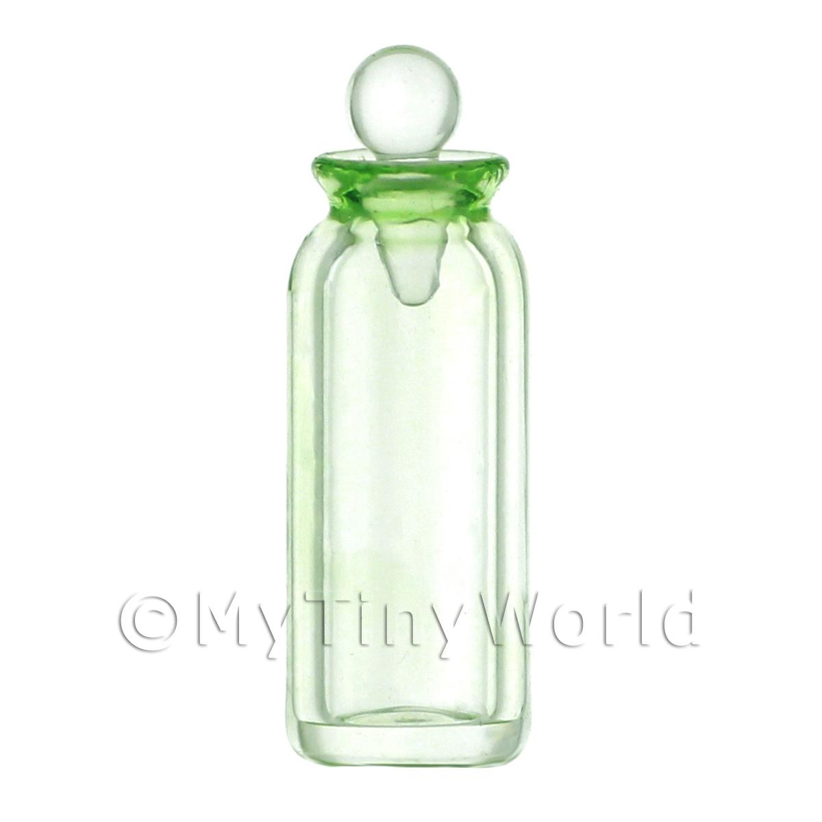 Dolls House Miniature Small Green Glass Apothecary Bottle