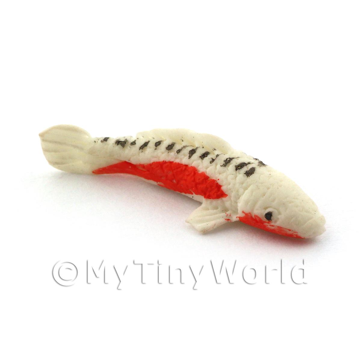 Dolls House Large Koi Carp White,Orange and Black Speckled Top