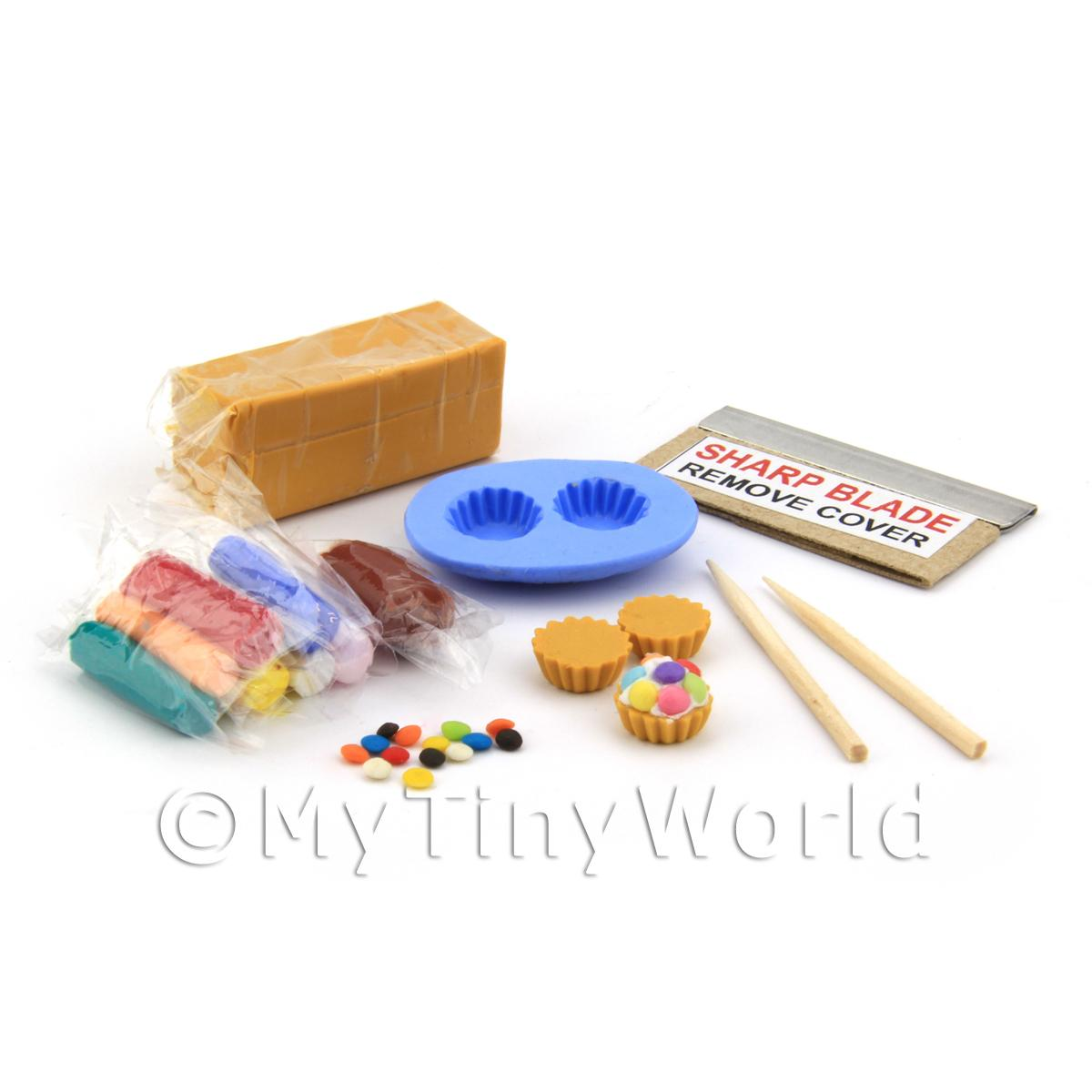 Dolls House Miniature Smartie Tart Kit With Silicone Mould