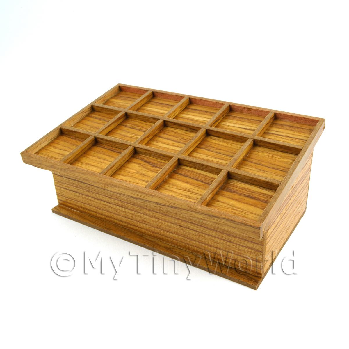 Dolls House Miniature 15 Compartment Vegetable Stand