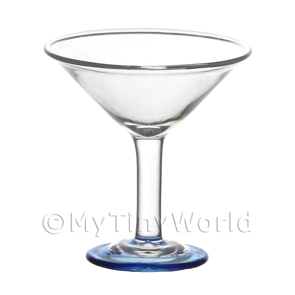 Dolls House Miniature Handmade Classic Blue Based Cocktail Glass