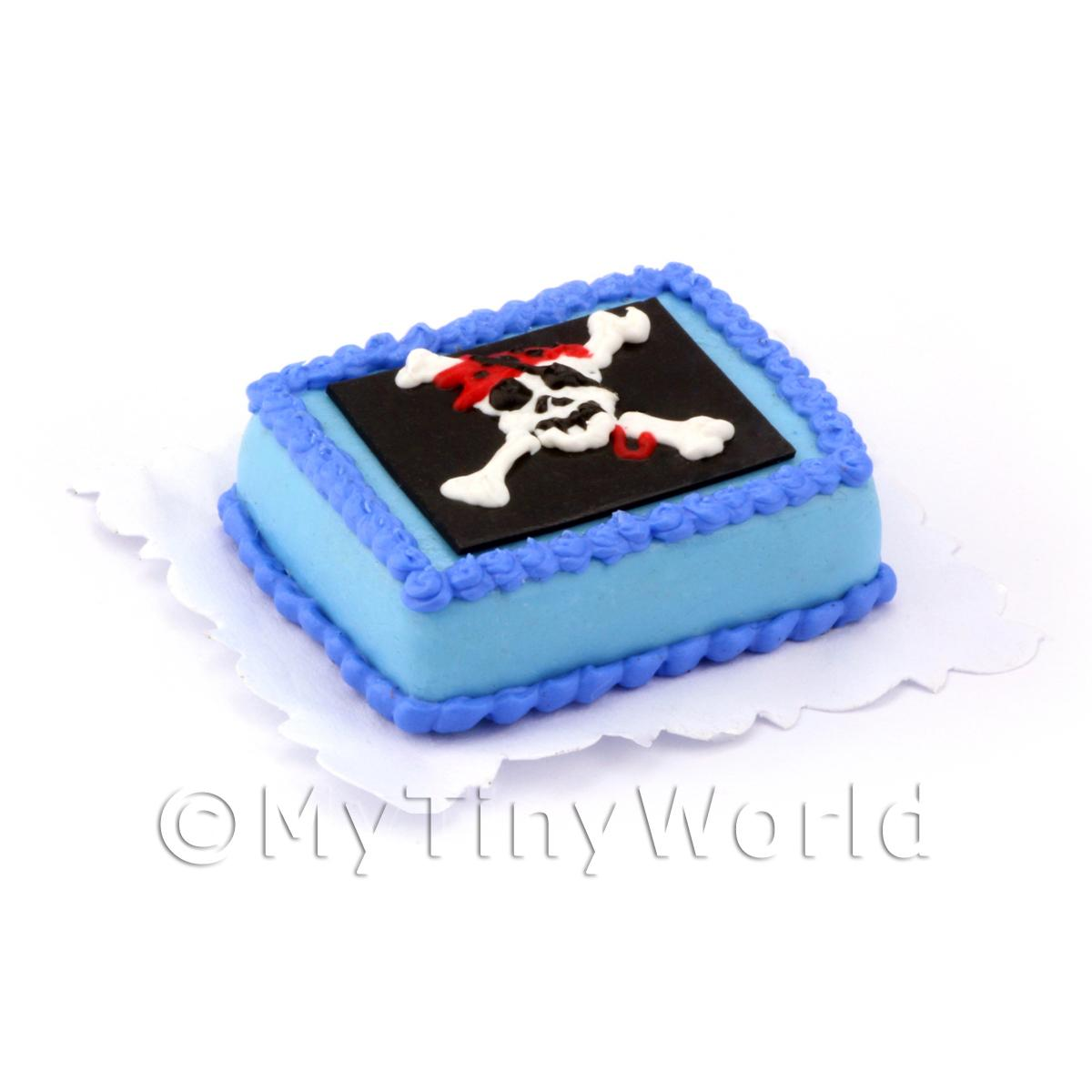 Dolls House Miniature Pirate Themed Birthday Cake