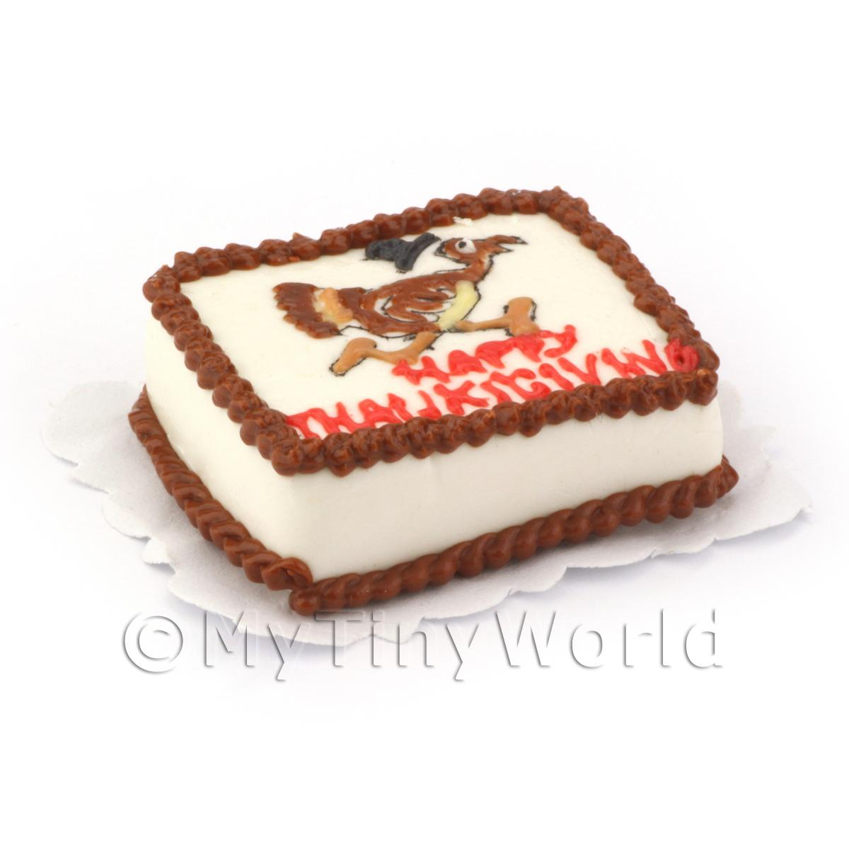 Dolls House Miniature Thanksgiving Cake