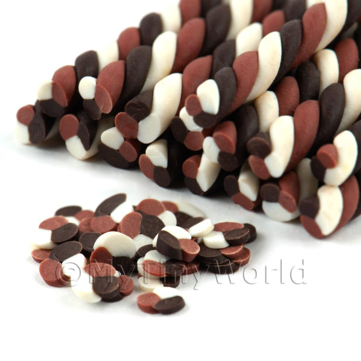 Triple Chocolate Twist Nail Art Cane (09NC11)
