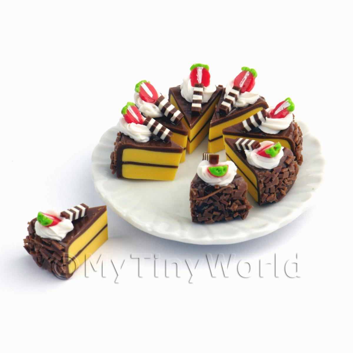 Miniature Whole Sliced Chocolate Cake