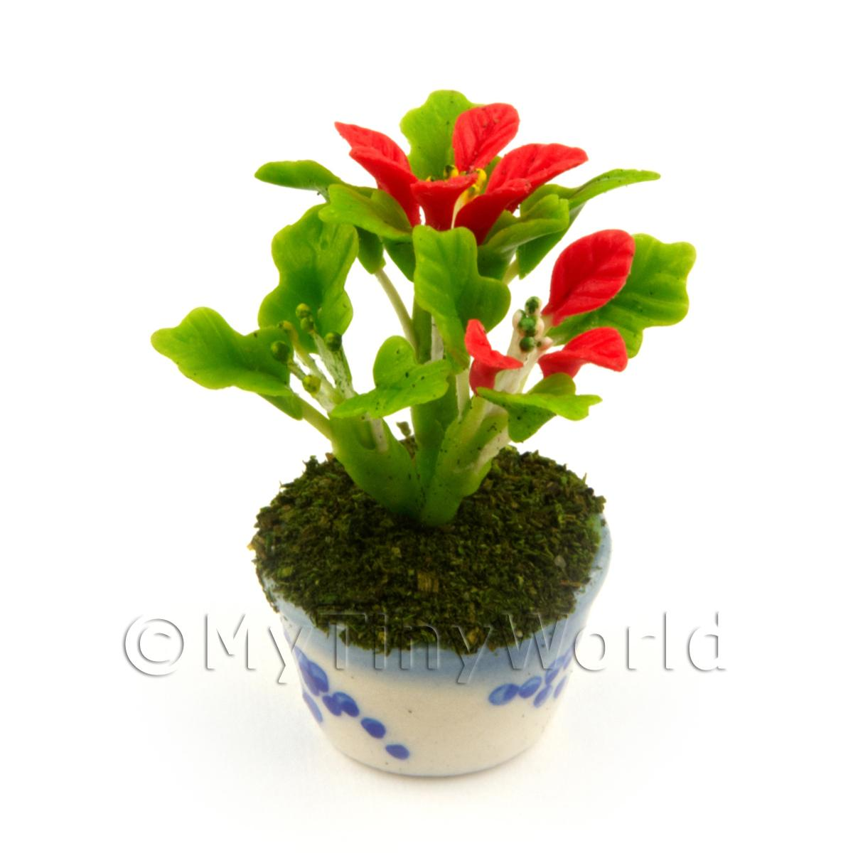 Dolls House Miniature Flowers And Plants Miniature Red