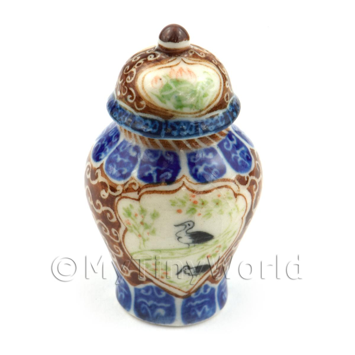 Dolls House Miniature Ultra Fine Porcelain Dynasty Vase