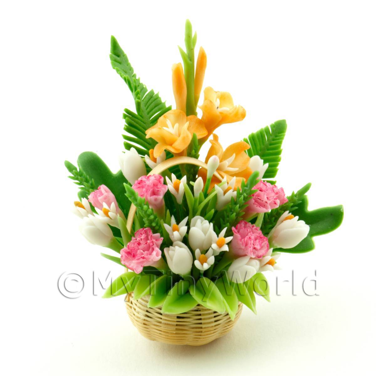 Dolls House Miniature Mixed Flower Arrangement