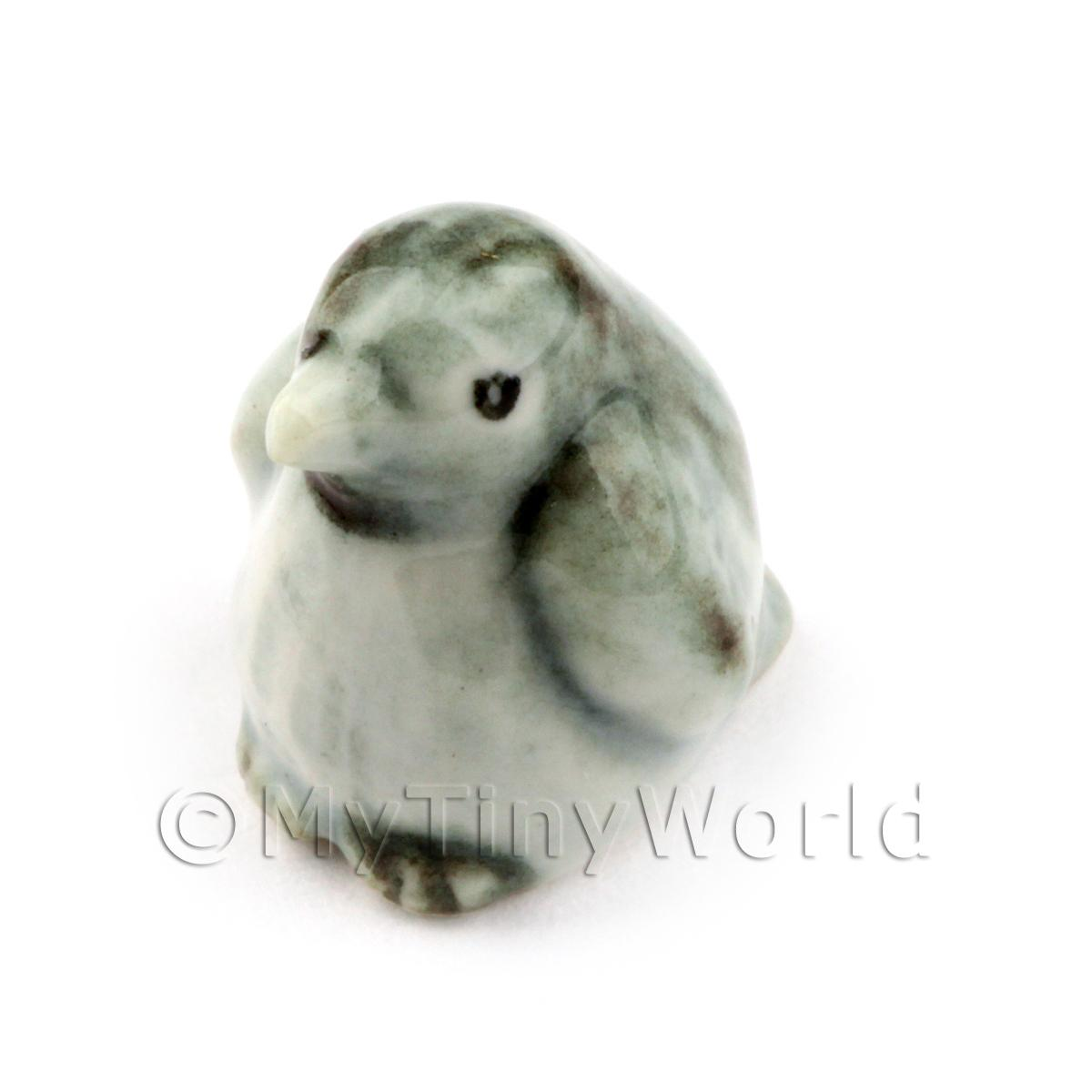 Dolls House Miniature Ceramic Baby Emperor Penguin