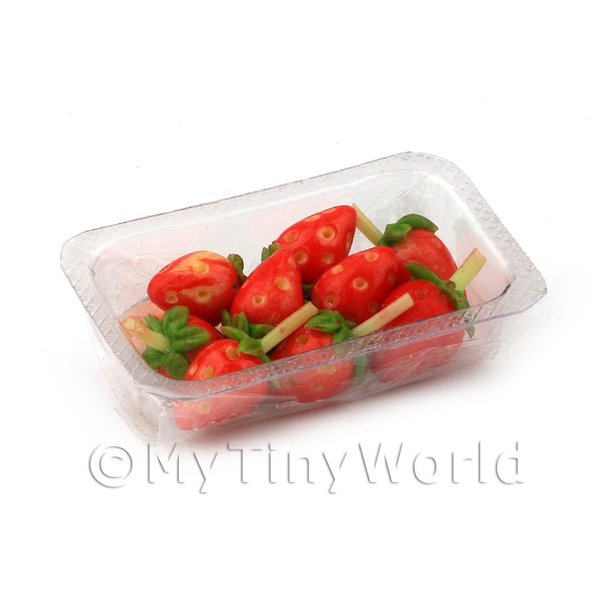 Dolls House Miniature Punnet of Strawberries