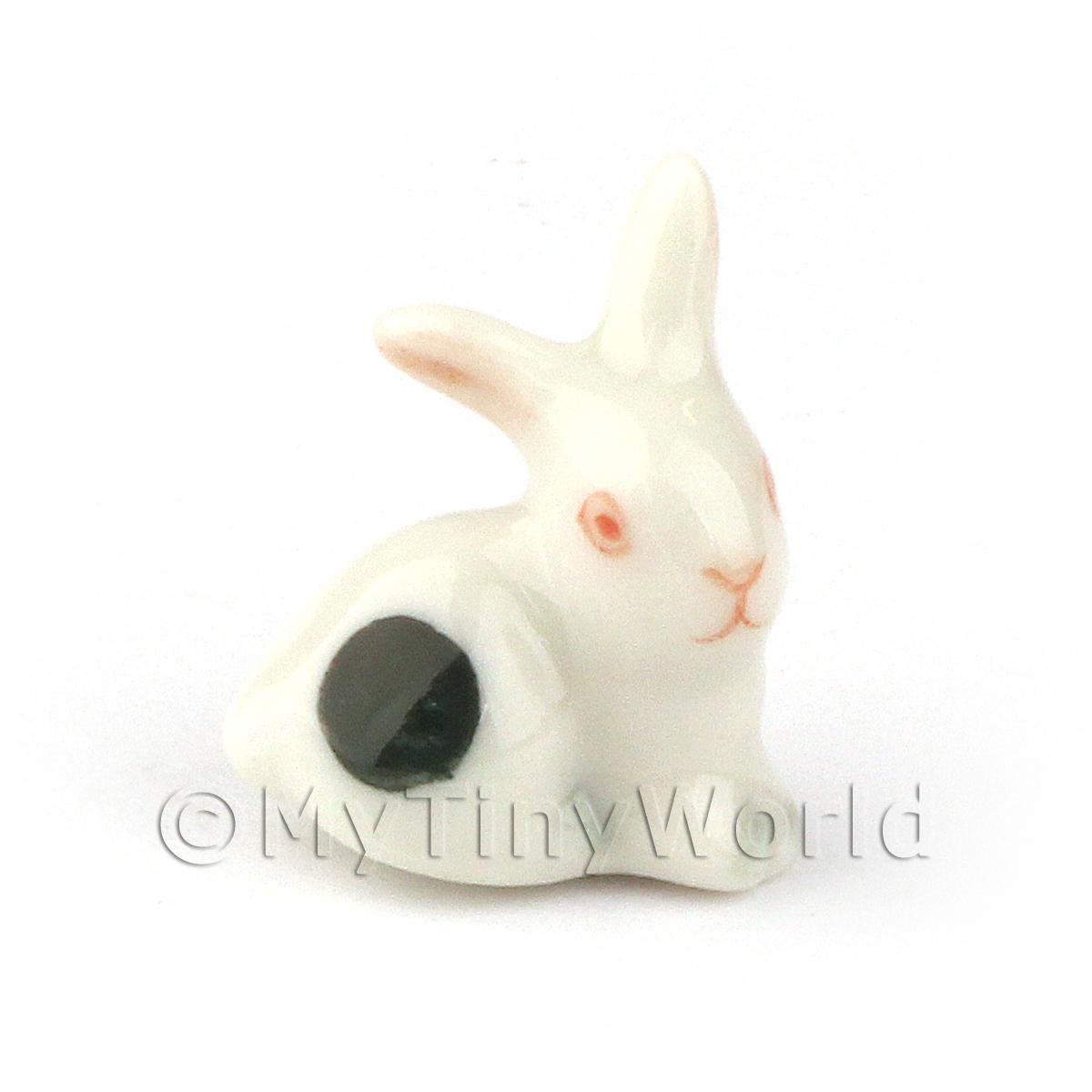 Dolls House Miniature Ceramic Tiny Rabbit