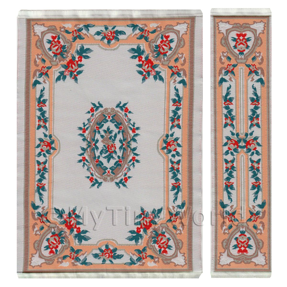 Dolls House Medium French Provincial Rectangular Rug And Runner (FPMRR05)