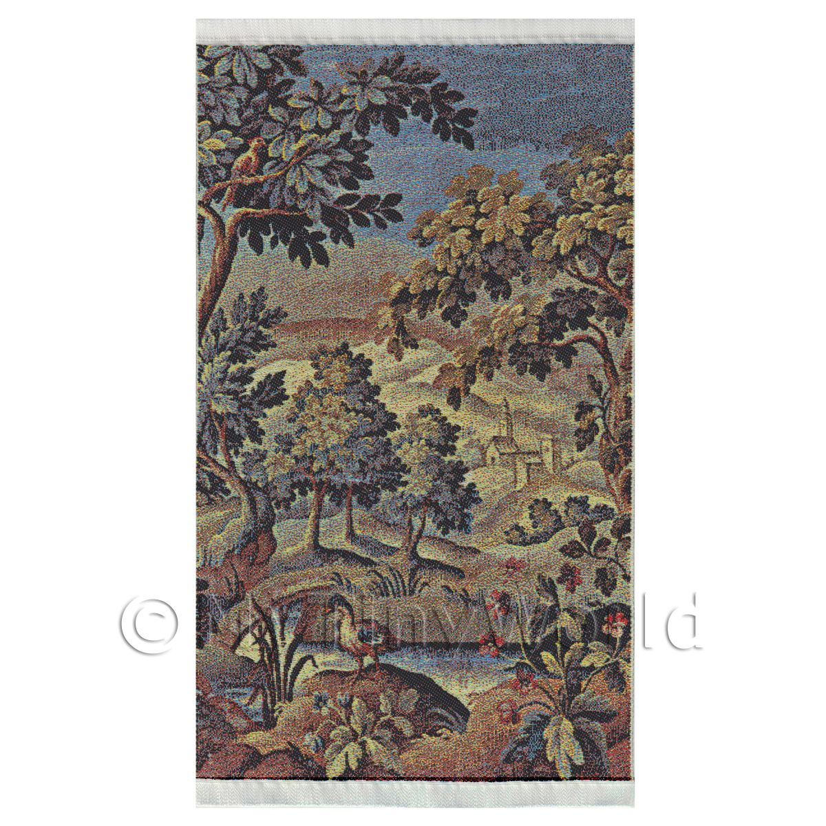 Dolls House Miniature Large Woven Tapestry Country Scene tapmr01