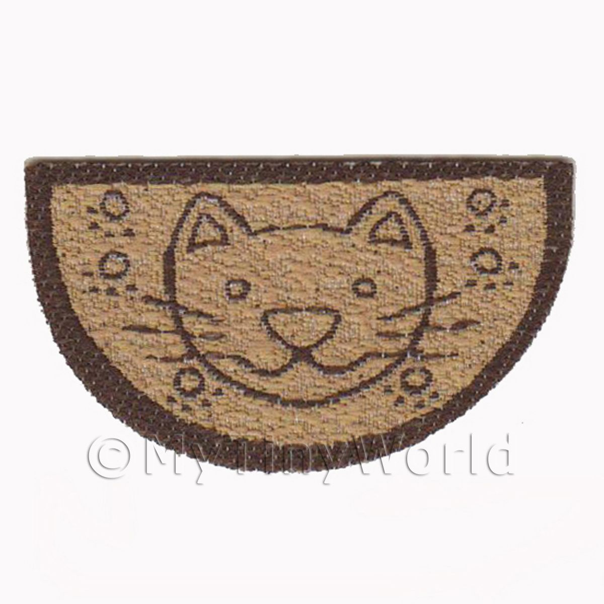 Dolls House 43mm Half Moon Cat Welcome Mat (WM17)
