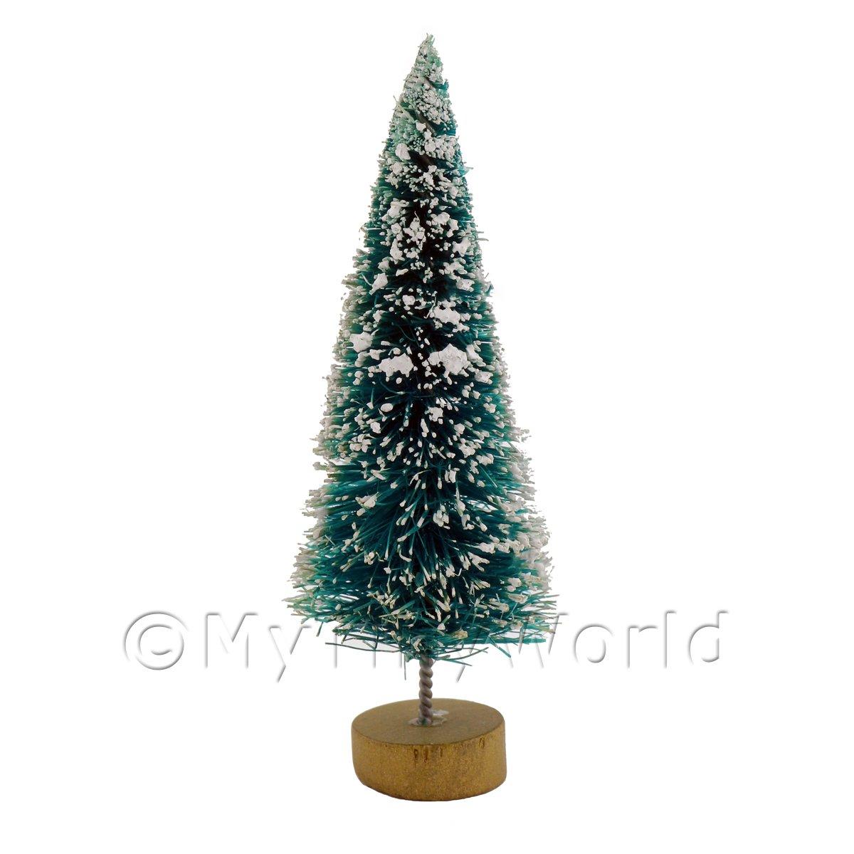 dolls house miniature small christmas tree with snow - Miniature Christmas Decorations Uk