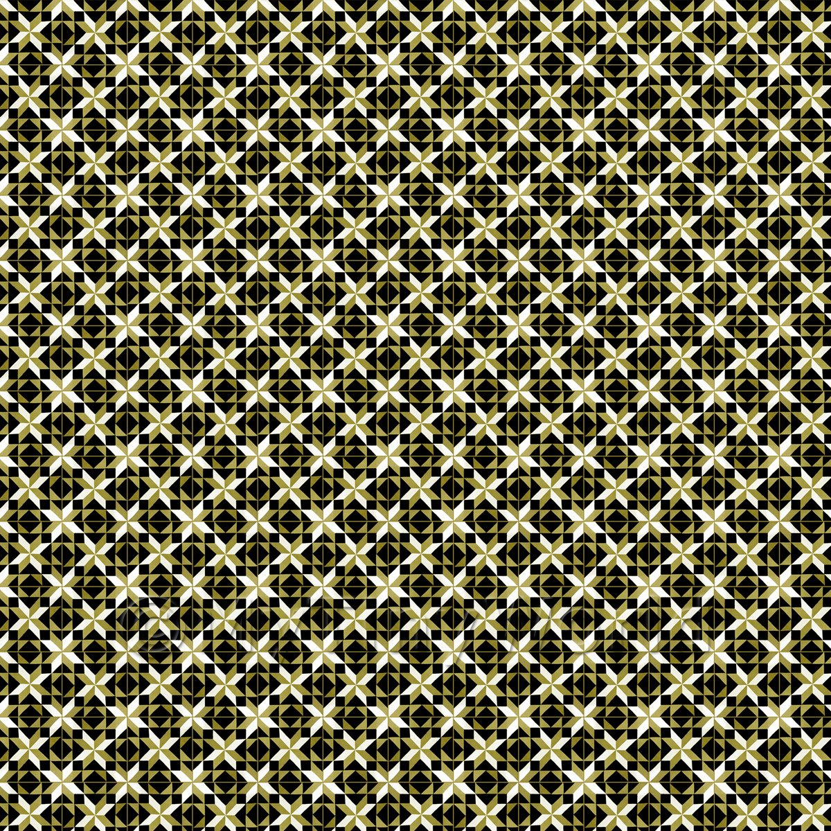 1:12th Green/Yellow And Black Intricate Pattern Tile Sheet