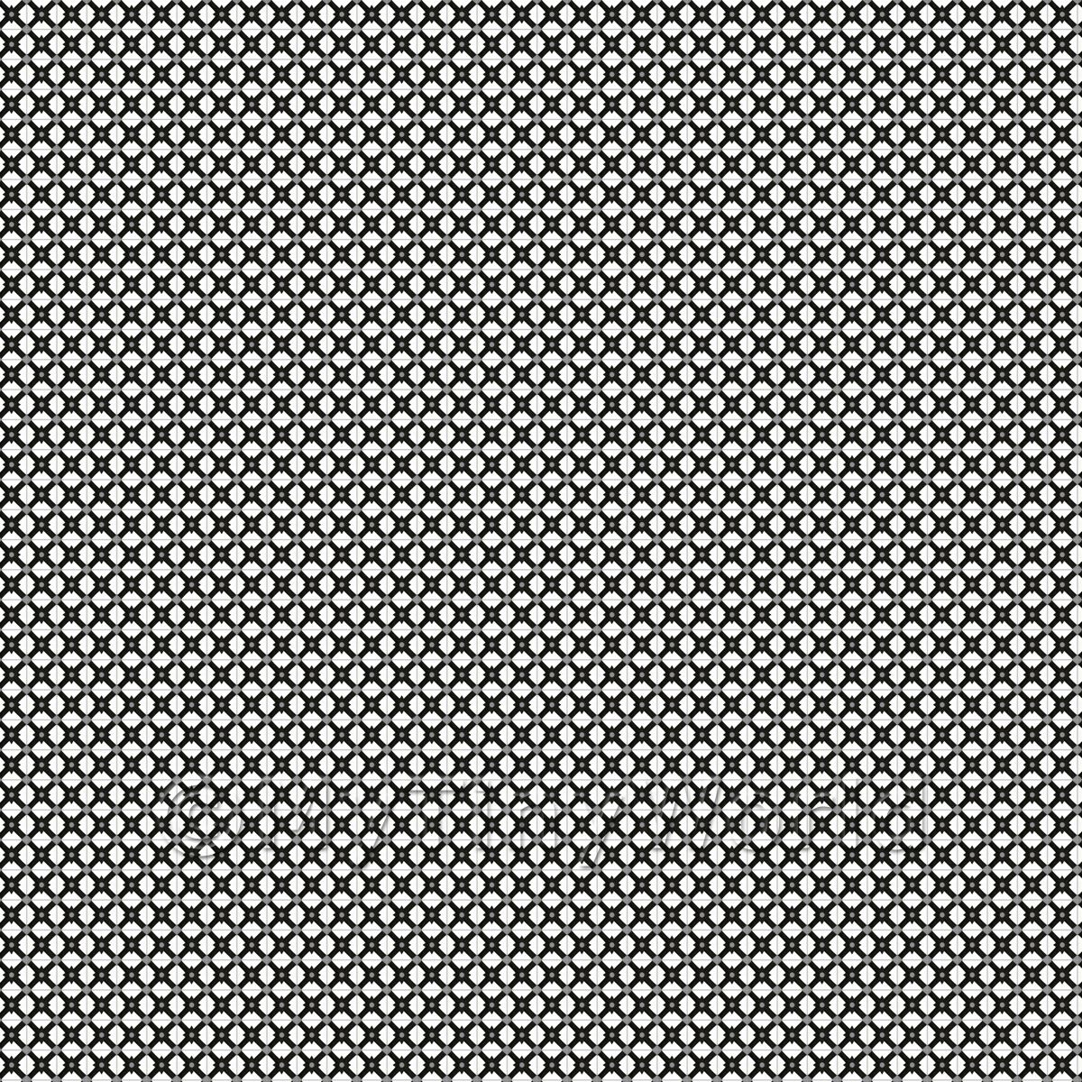 1:48th Black And Grey Cross Design Tile Sheet With Dark Grey Grout
