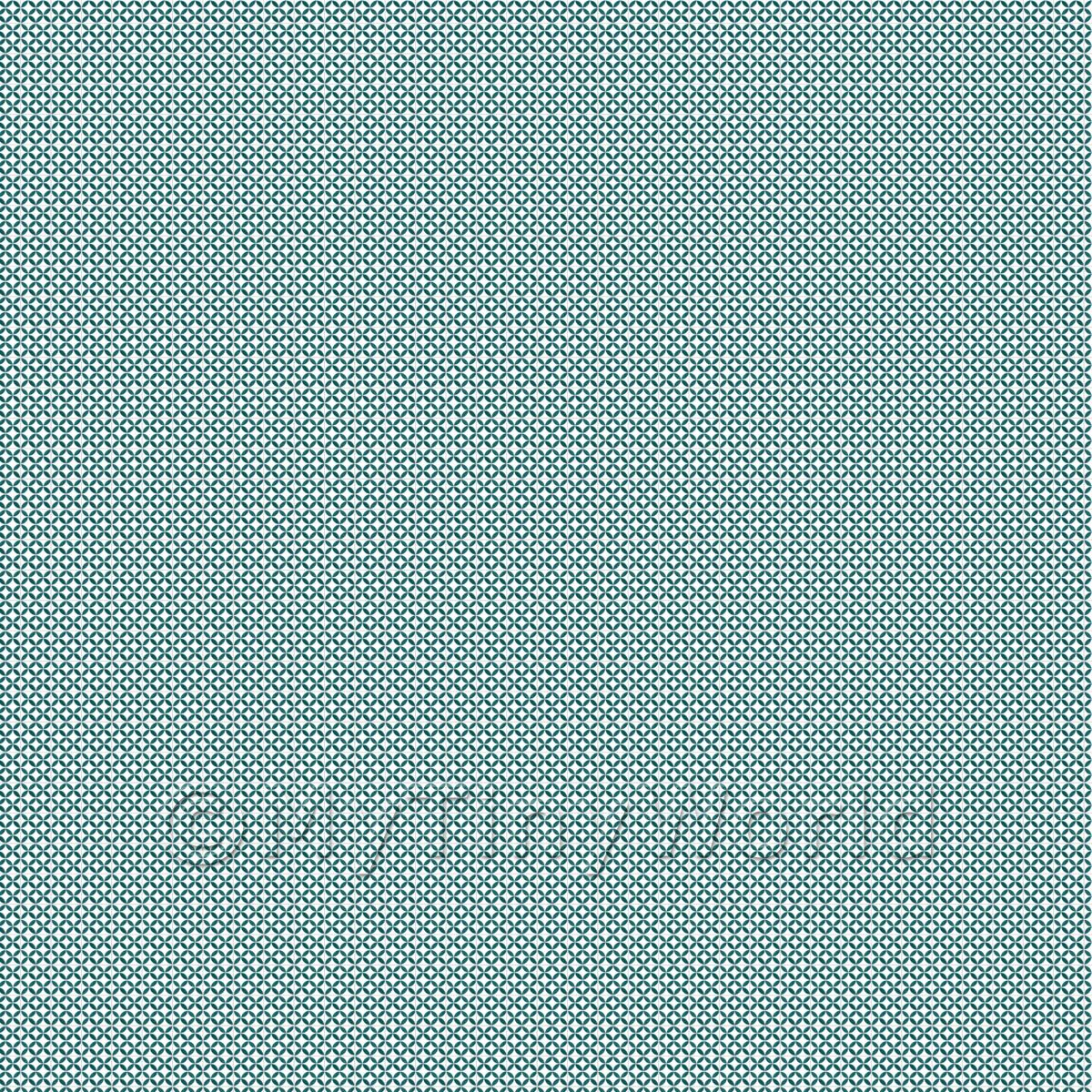 1:48th Sea Green Geometric Circle Design Tile Sheet With Grey Grout