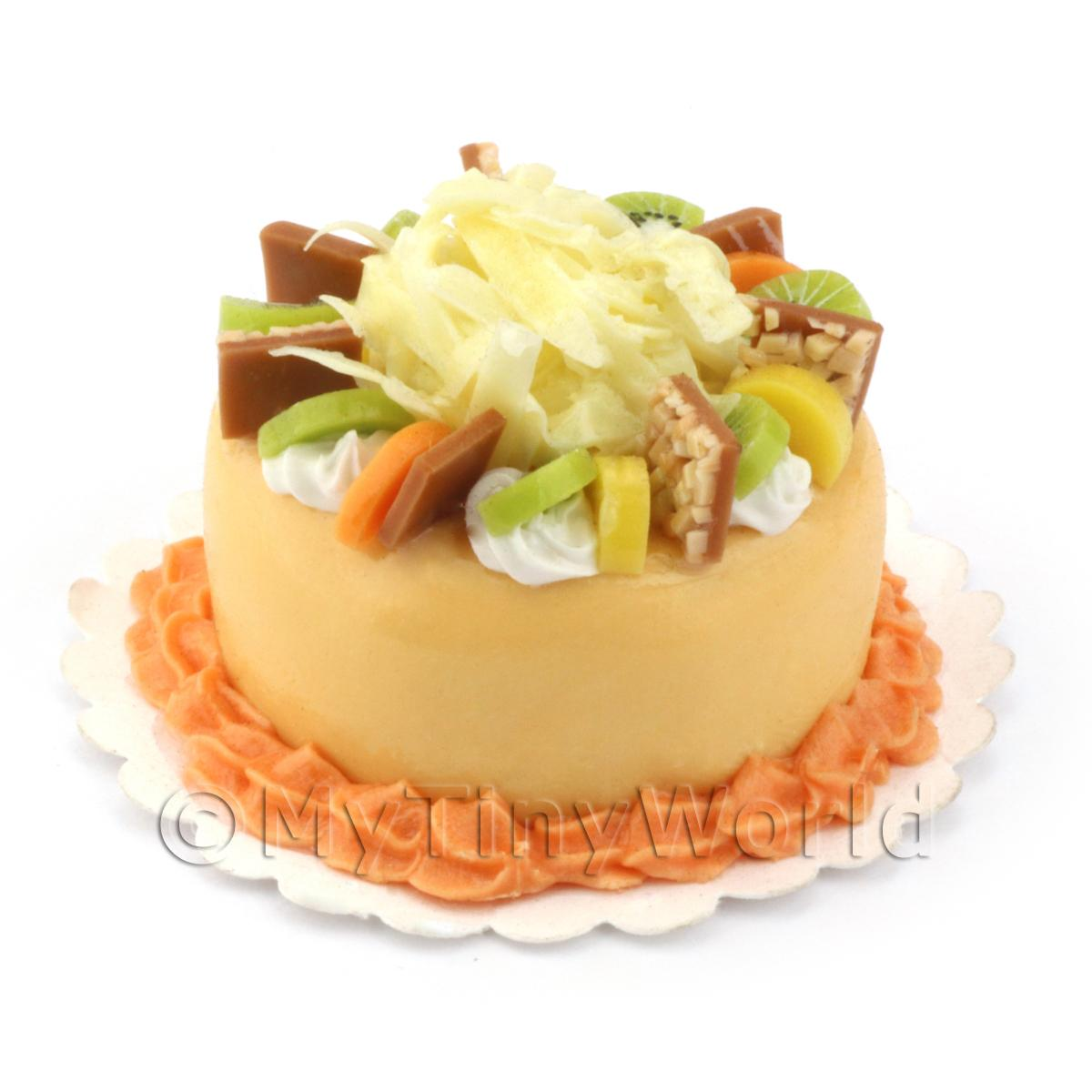 Dolls House Miniature Orange Fruity Cake