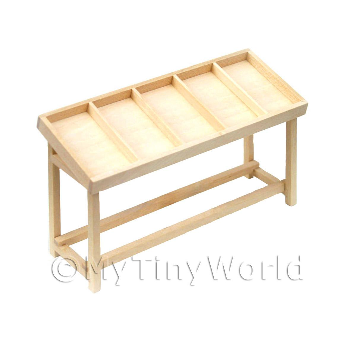 Dolls House Miniature Shop counter - 5 section - flat packed