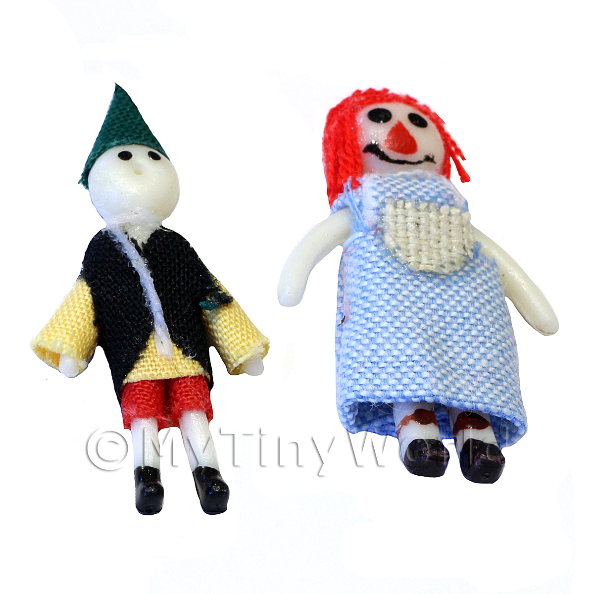 2 Pieces Dolls House Miniature Nursery Doll Toys