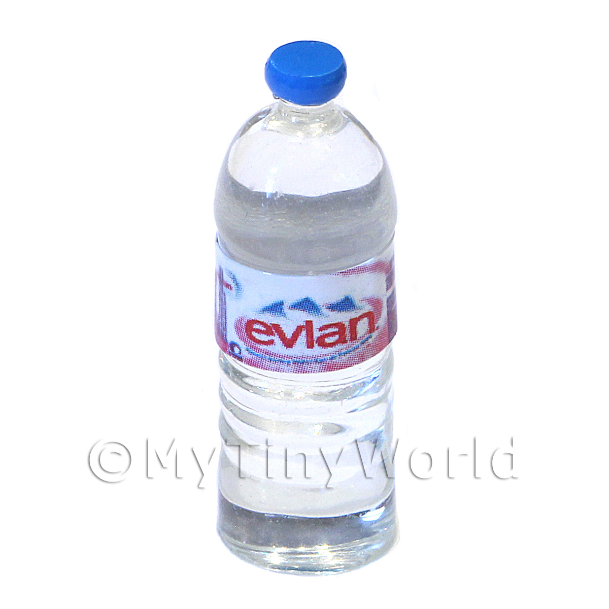 Dolls House Miniature Large Evian Brand Round Water Bottle