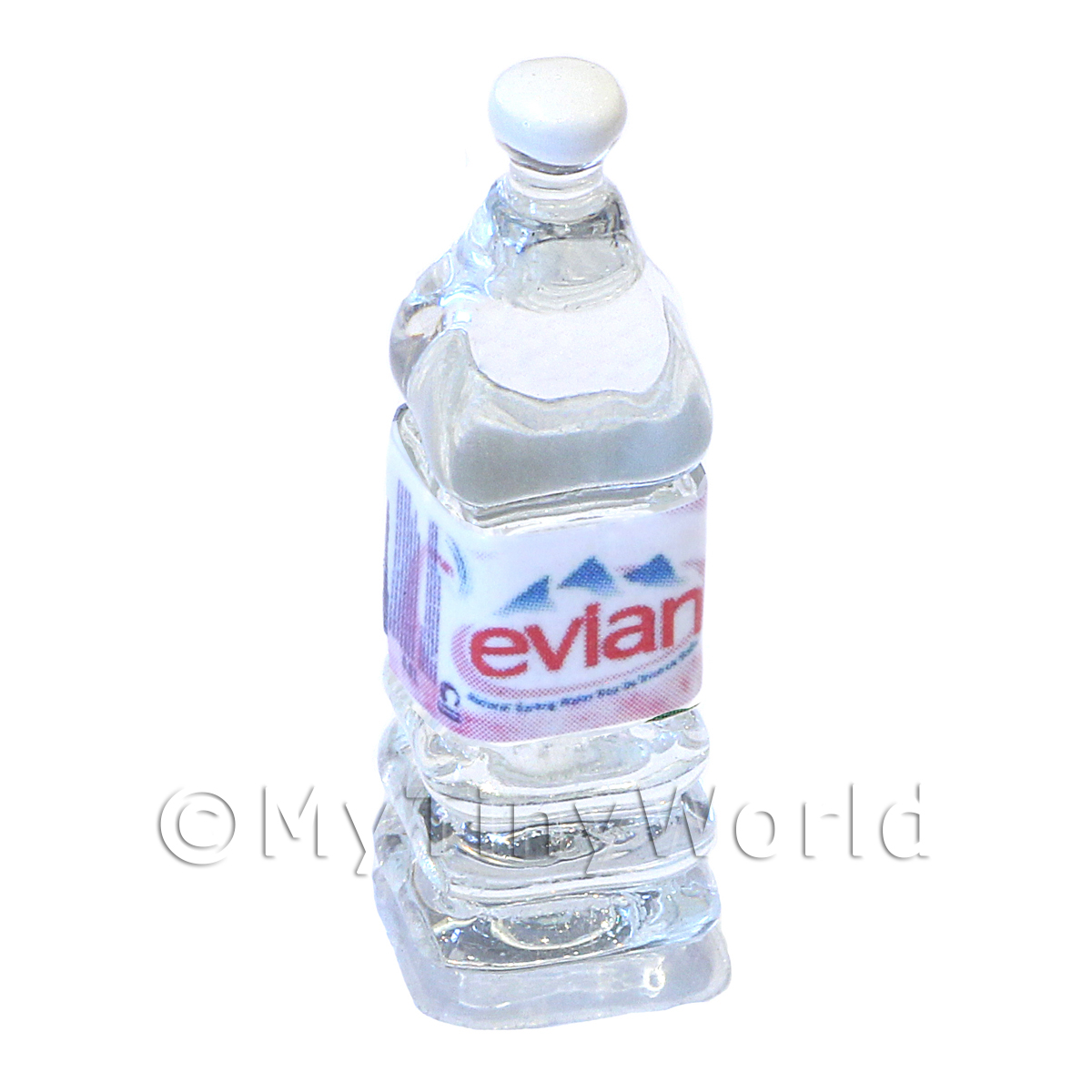 Dolls House Miniature Large Evian Brand Square Water Bottle