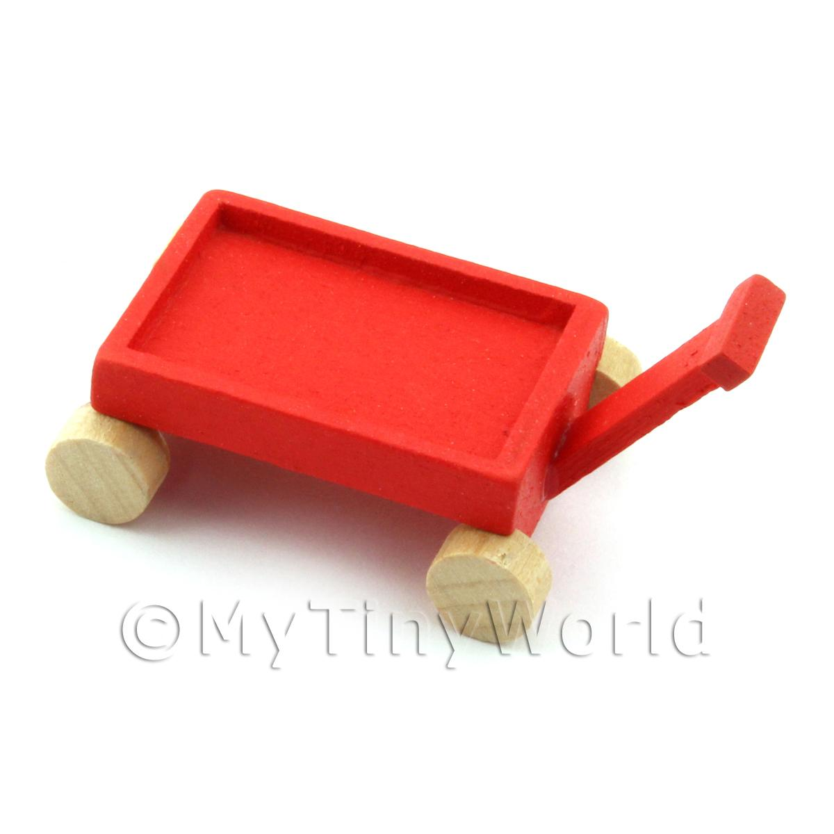 Dolls House Miniature Wooden Toy Trolley