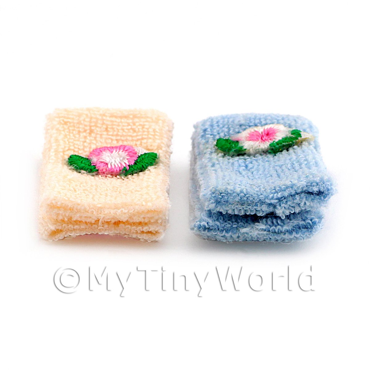 Dolls House Miniature His and Hers Towel Set