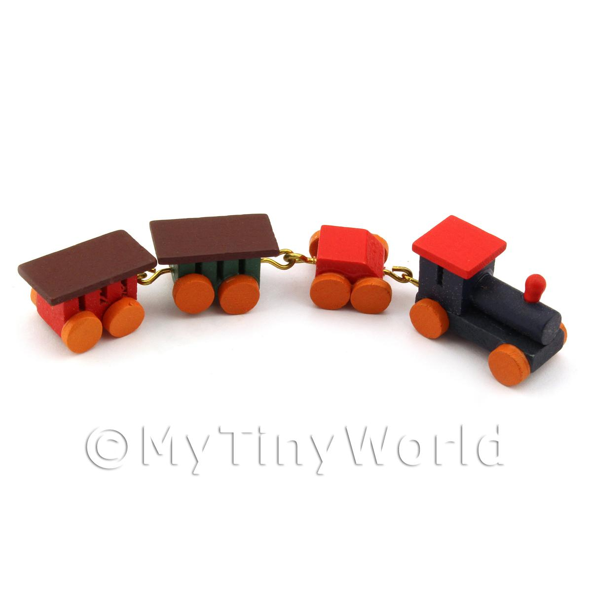 Dolls House Miniature Childrens Wooden Toy Train