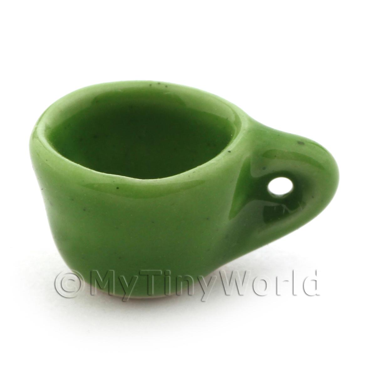 11mm Dolls House Miniature Green Coffee Cup