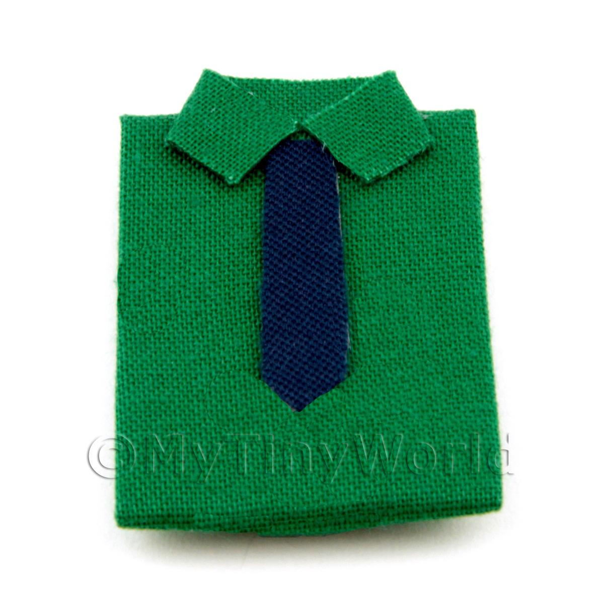 Dolls House Miniature Green Shirt With Tie