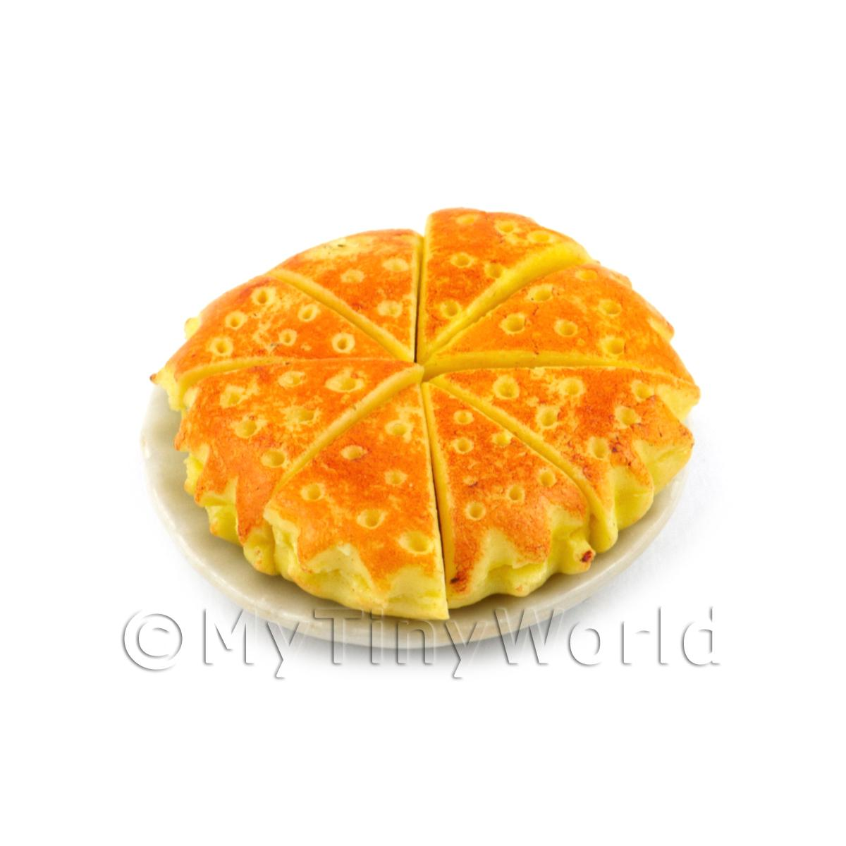 Dolls House Miniature Sliced Bramley Apple Pie
