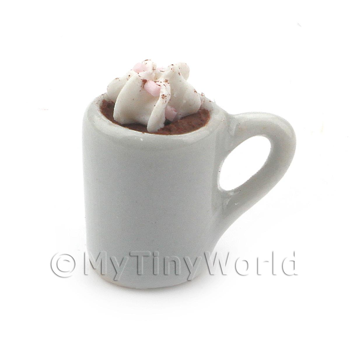 Dolls House Miniature Handmade Mug Of Cream Topped Hot Chocolate