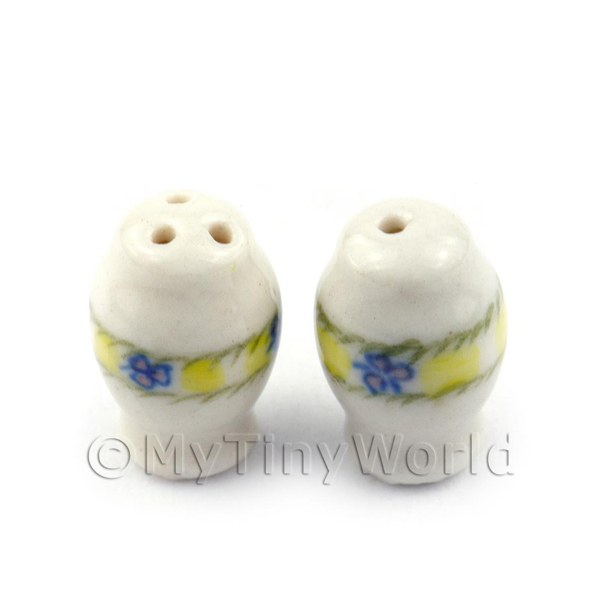 Dolls House Miniature Ceramic Salt And Pepper Pot