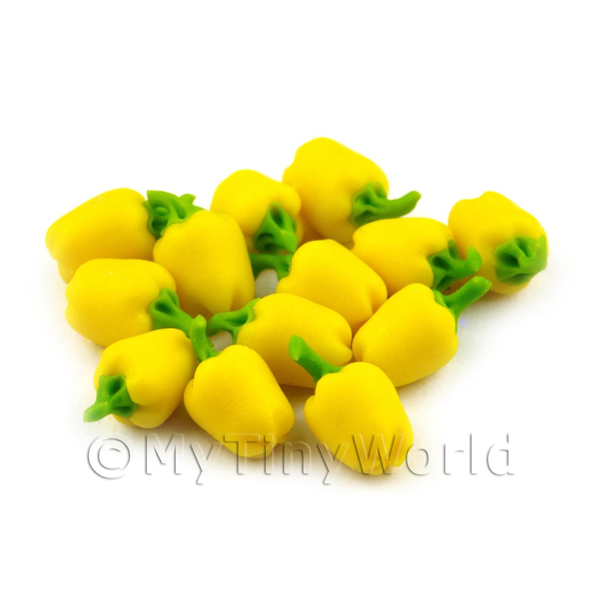 Dolls House Miniature Handmade Yellow Bell Pepper