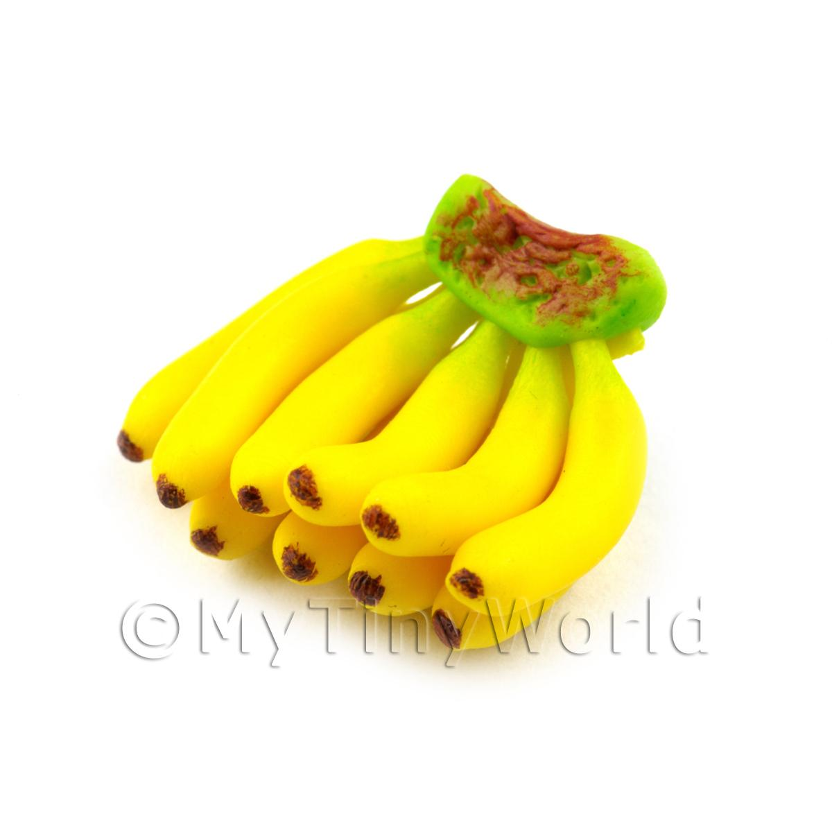 Dolls House Miniature Handmade Bunch of Bananas