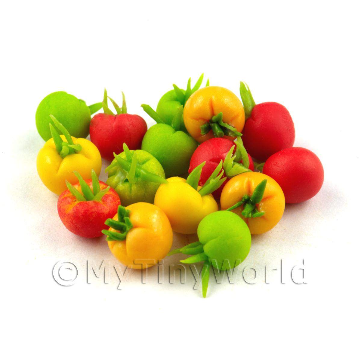 6 Dolls House Miniature Handmade Tomatoes