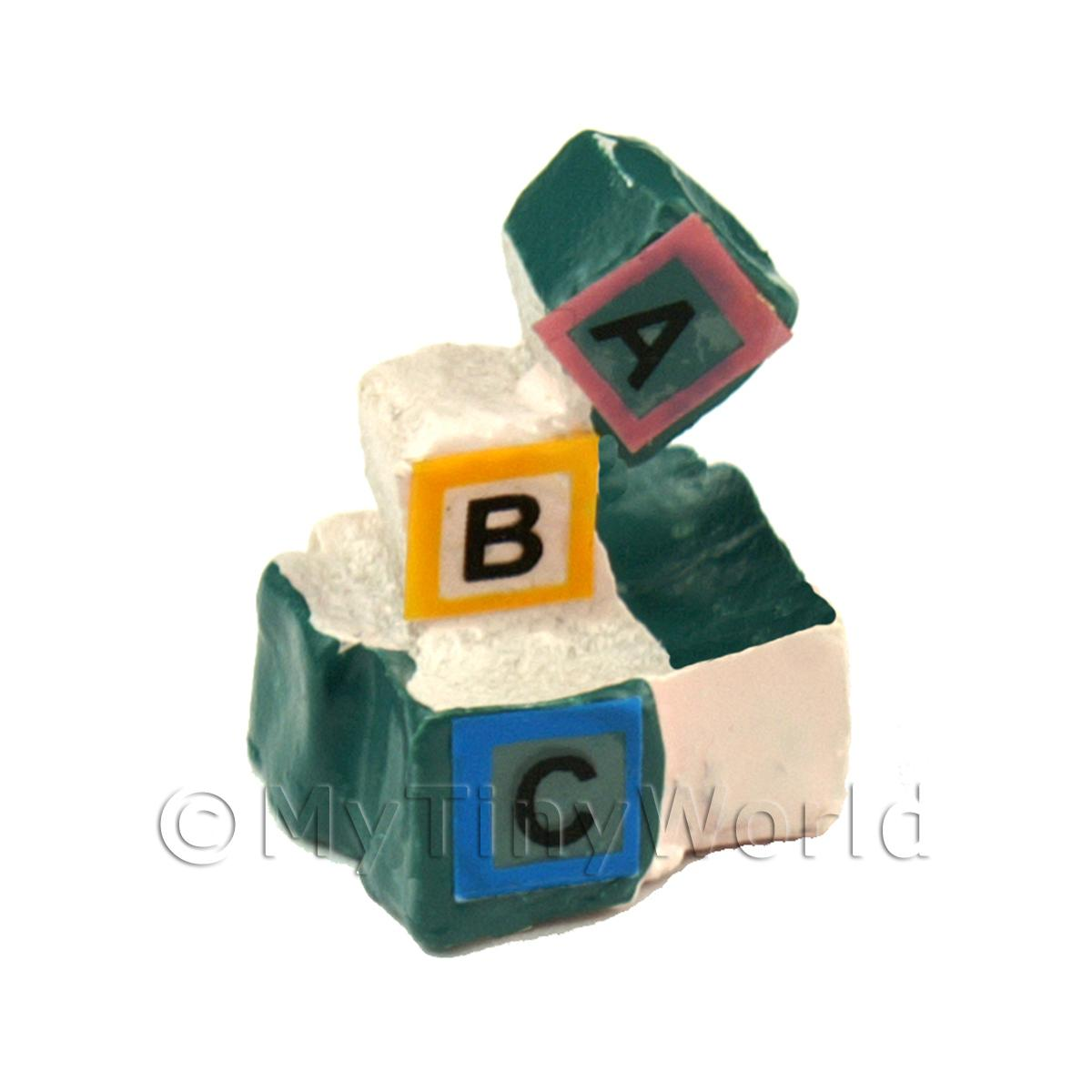 Dolls House Miniature Block of Cast Childrens Blocks