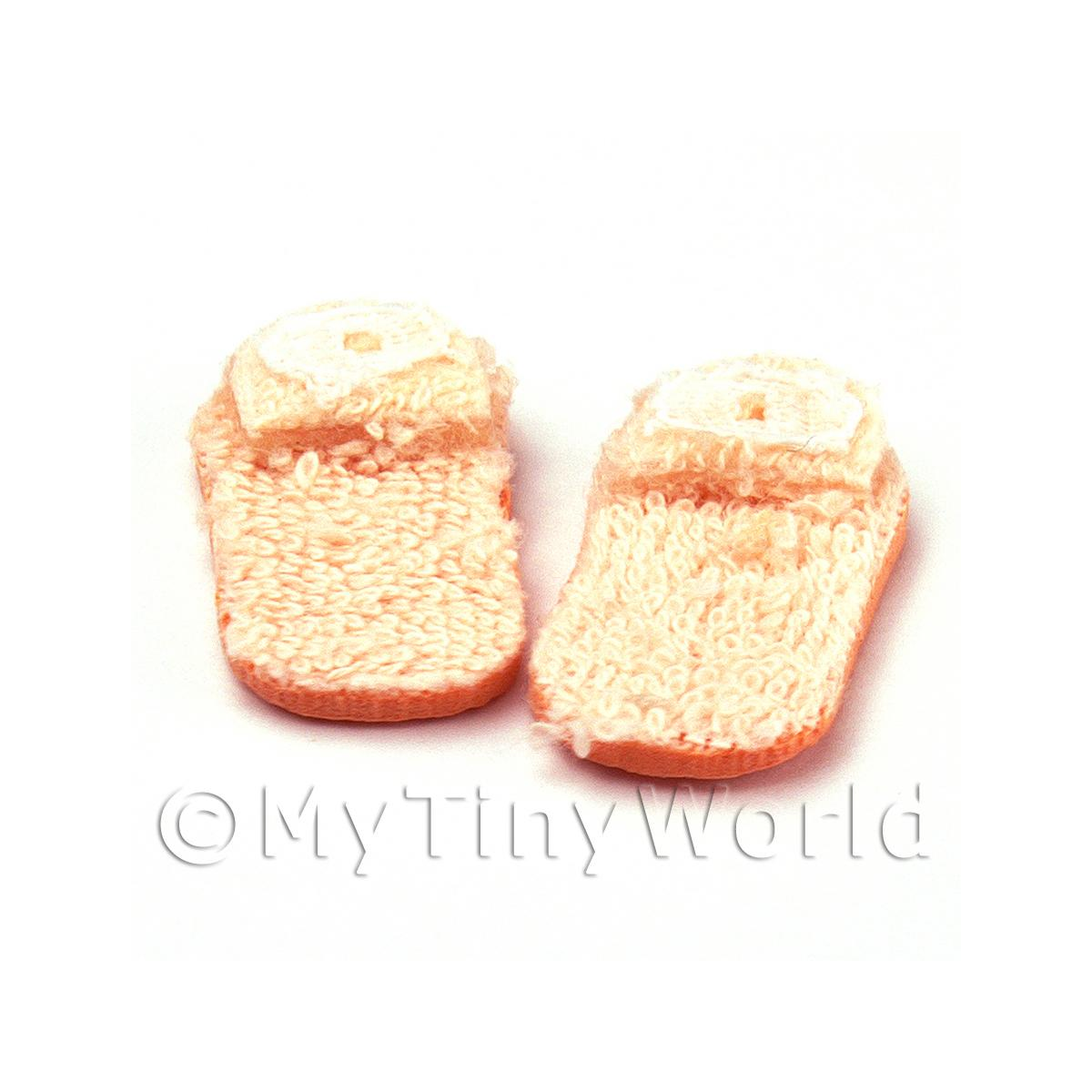 Dolls House Miniature Pair of Ladies Carpet Slippers
