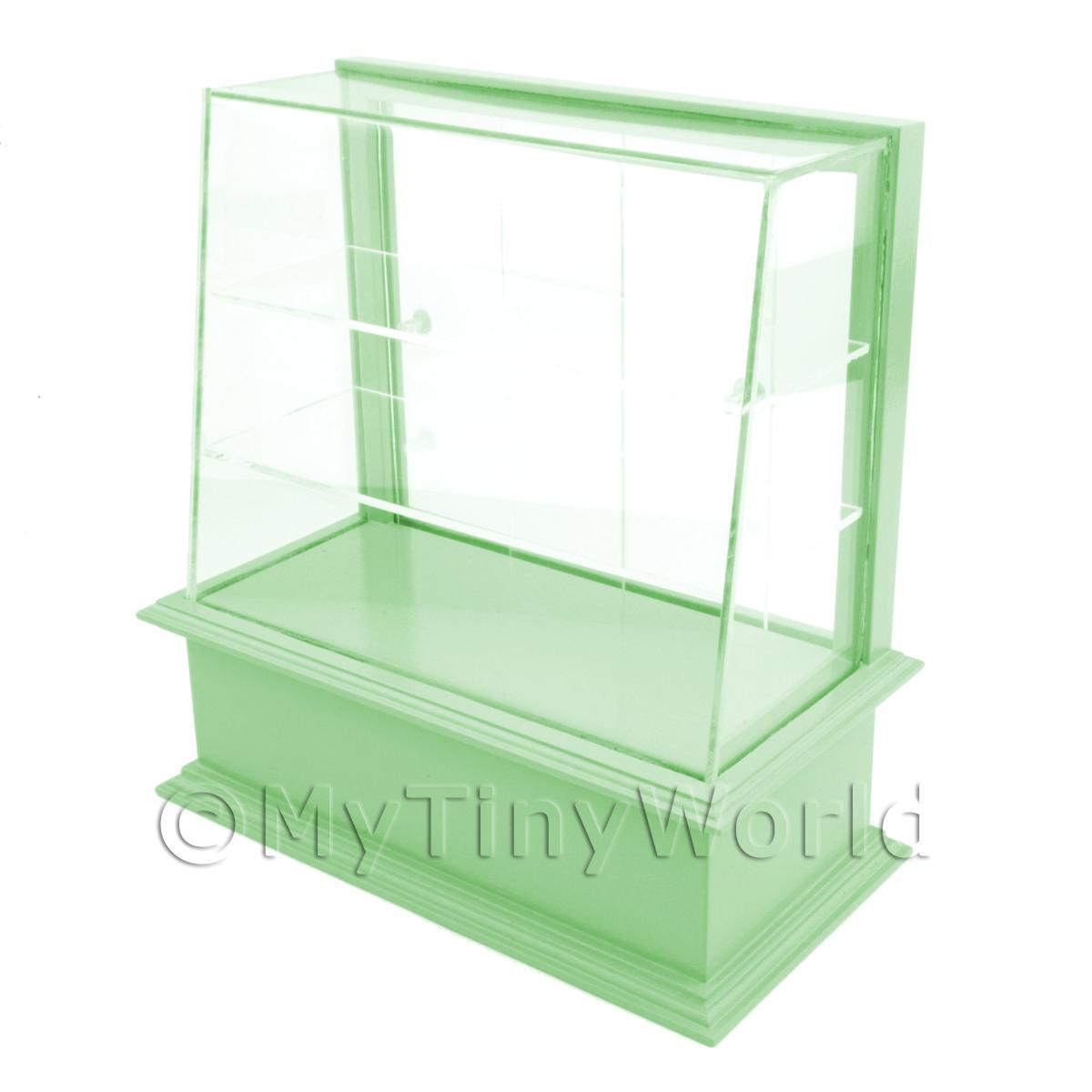 Miniature Small Pale Green Wood Cake / Food Display Counter
