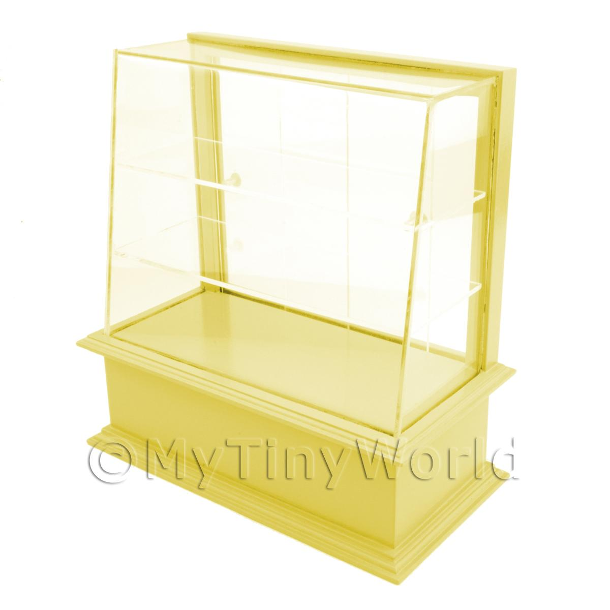 Miniature Small Yellow Wood Cake / Food Display Counter