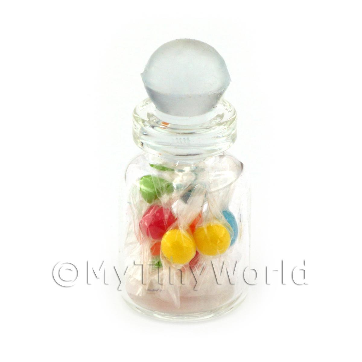 Miniature Handmade Mixed Boiled Sweets In A Glass Jar